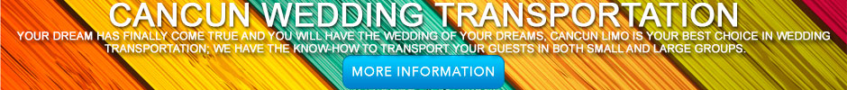 cancun wedding transportation